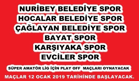 1.Amatör Play-Off müsabakaları 12 Ocak'ta başlayacak