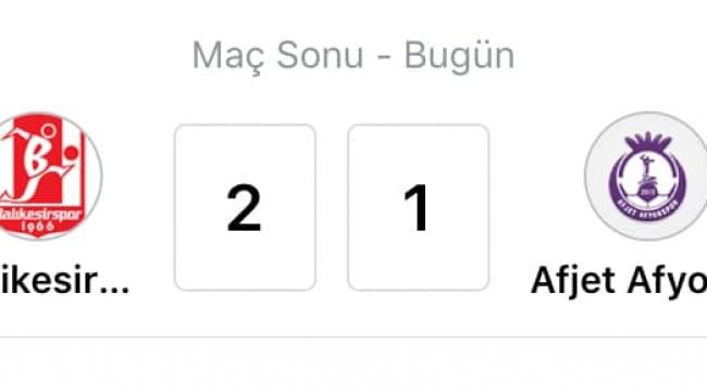 Balıkesirspor 2-1 Afjet Afyonspor