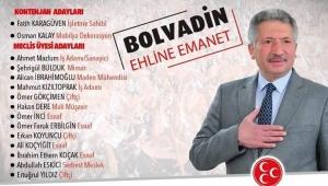 Bolvadin MHP'nin Adayları belli oldu