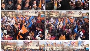 Bolvadin'deki Mahşeri Kalabalık Seçim Sonucunu İlan Etti