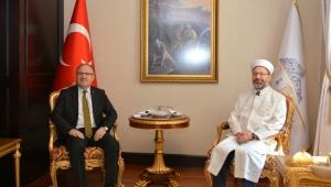 Diyanet İşleri Başkanı Erbaş Vali Tutulmaz'ı Ziyaret Etti