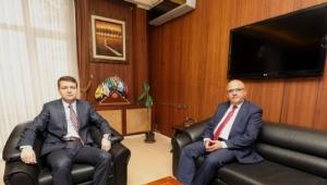 İdare Mahkemesi Başkanı Akcan'a Veda Ziyareti