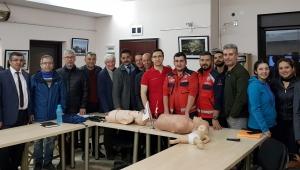 Sağlık Müdürlüğü, İlk Yardım Eğitimlerine devam ediyor.