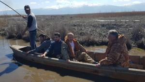 Taytak, Eber Gölü'nde incelemelerde bulundu