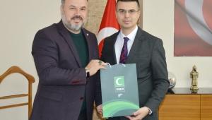 Yeşilay'dan Sağlık Müdürü Korkmaz'a ziyaret