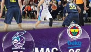 Afyon Belediye baskette Kötü gidiş sürüyor Fenerbahçe'ye 96-72 yenildik