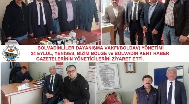 Boldav Bolvadinli Basın Mensuplarını Ziyaret Etti