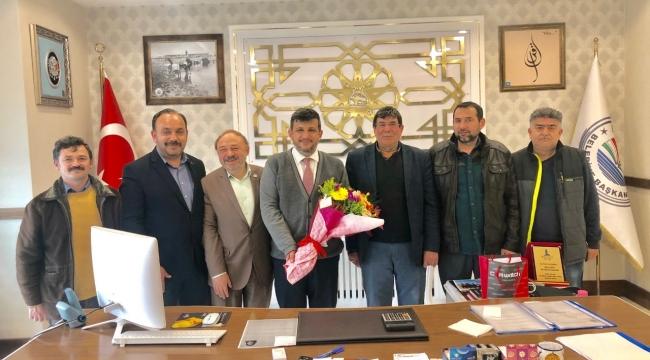 Bolvadinli Gazetecilerden Tebrik Ziyareti