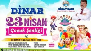 Dinar Belediyesi'nden 23 Nisan Çocuk Şenliği
