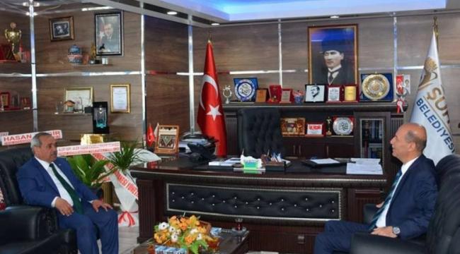İscehisar Belediye Başkanı Şahin Mazbatasını almadan önce Bozkurt'u ziyaret etti