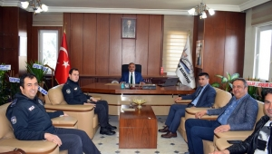 Polis Teşkilatından, Başkan Şahin' e Ziyaret