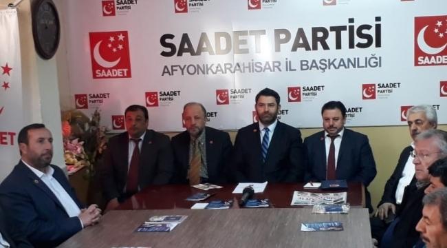 SP İl Başkanı Şenel : Saadet oylarını iki kat artırarak 9 ilçe ve 11 beldede seçimi kazandı