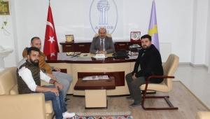 Yeniden Refah Partisi Gençlik Kollarından ESOB'a ziyaret.