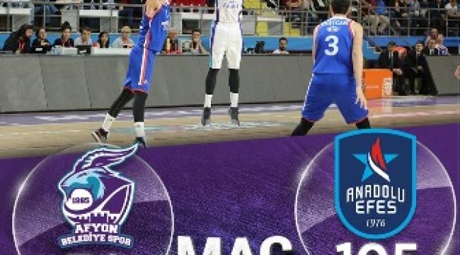 Afyon Belediye Basket takımı Anadolu Efes 74-105 yenildi