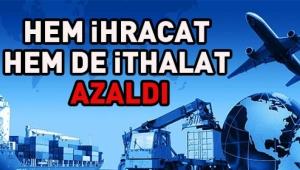 Afyonkarahisar'da ihracat ve ithalat azaldı
