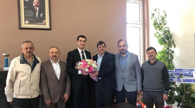 Basın Mensuplarından Bolvadin MYO Müdürüne Ziyaret