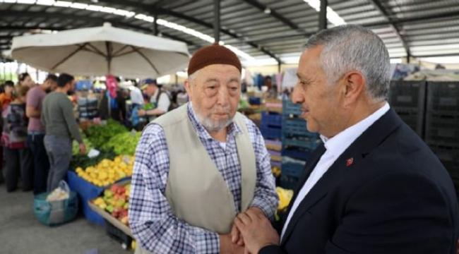 halkın içinden başkan pazar alışverişinde