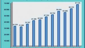 Yayımlanan materyallerin sayısı son beş yılda %32,3 arttı