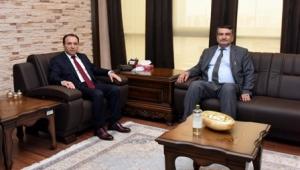 YÖK yürütme kurulu üyesi prof. Dr. Şişman'dan rektör karakaş'a ziyaret