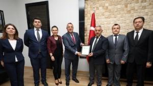 Zaftoder'den başkan Zeybek'e ziyaret