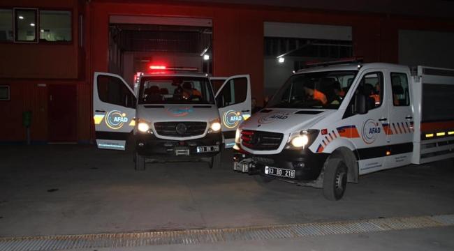 Afyonkarahisar AFAD'tan 12 personel ve araç gereç Elazığ'a yola çıktı