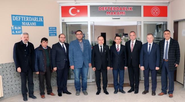 ATSO Yönetimi, Defterdar Şahin'i Ziyaret Etti