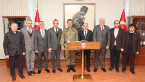 ATSO Yönetimi, Tuğgeneral Alp'i Ziyaret Etti