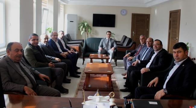MHP'li Başkanlardan Kaymakam Topaloğlu'na ziyaret