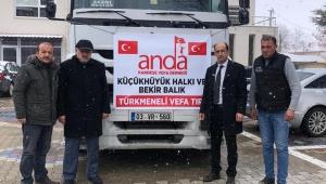 Küçükhüyük halkı Türkmenlere elini uzattı