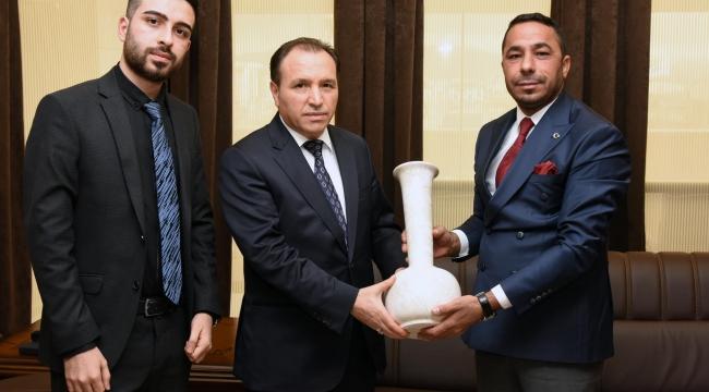 Rektör Karakaş MHP İl Başkan Yardımcısı Şimşek'i Kabul Etti