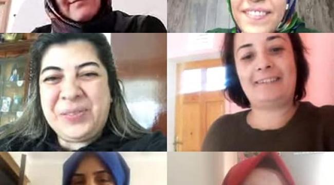 Akparti Kadın Kolları yürütme kurulu toplantısı korona tedbirleri sebebiyle video konferans kullanılarak yapıldı