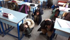 Ayşegül Arsoy İlkokulu'nda Yangın Ve Deprem Tatbikatı