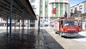 İscehisar Halk Pazarı Dezenfekte Edilerek İlaçlandı