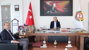 Rektör prof. Dr. Okumuş'tan serteser'e ziyaret