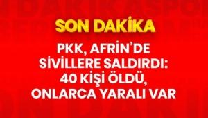 Afrin'de terör örgütü PKK/YPG'nin bombalı araç saldırısında ölü sayısı 40'a ulaştı .