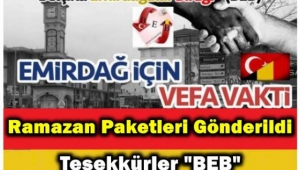BEB'den Emirdağ'a 700 Yardım Kolisi