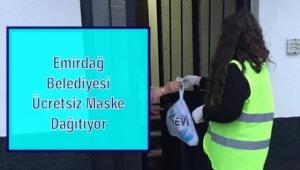 Emirdağ'da Ücretsiz Maske Dağıtılıyor