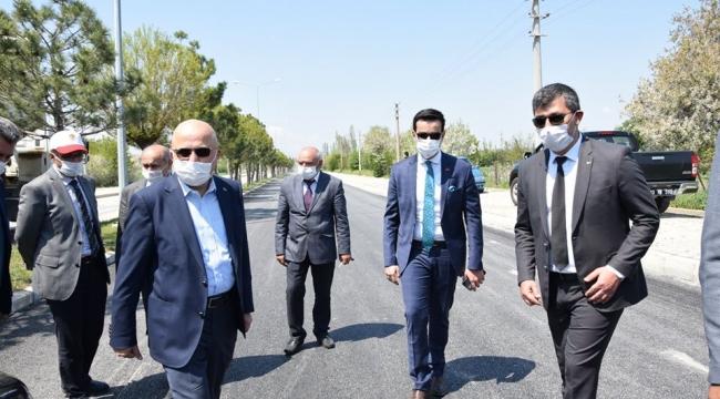 İGM Başkanı Çoban Çay'da asfalt çalışmalarını inceledi