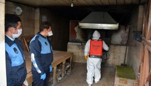 İscehisar'da Mahalle Fırınları İlaçlanarak Dezenfekte Edildi