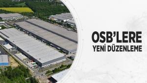 OSB'lere Yeni Düzenleme