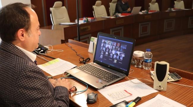 Serteser, Meslek Komitesi Başkanları İle Video Konferans Toplantısı Yaptı