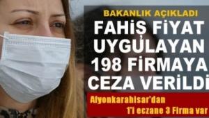 Son Dakika.....Afyonkarahisar'dan Fahiş fiyat artışı yapan 3 Firmaya ceza..!!