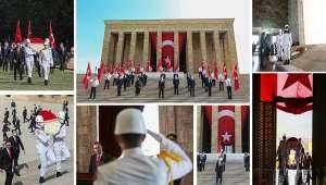 19 Mayıs'ın 101'inci Yılında İlk Tören Anıtkabir'de