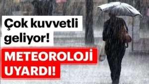 Afyonkarahisar'a Kuvvetli Yağış Uyarısı