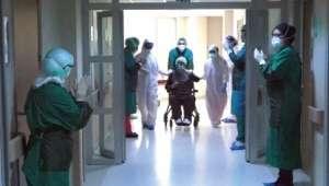 Afyonkarahisar'da 91 Yaşındaki hasta Koronayı Yendi