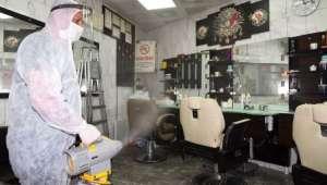 Afyonkarahisar´da Berber ve Kuuför Salonları Dezenfekte Ediliyor
