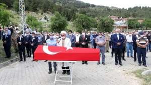 Afyonkarahisar'da kazara hayatını kaybeden Uzman Çavuş Albayrak toprağa verildi