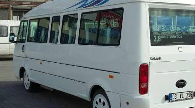 Afyonkarahisar'da Minibüslerde şoför ve müşterilere yönelik alınan önlemler