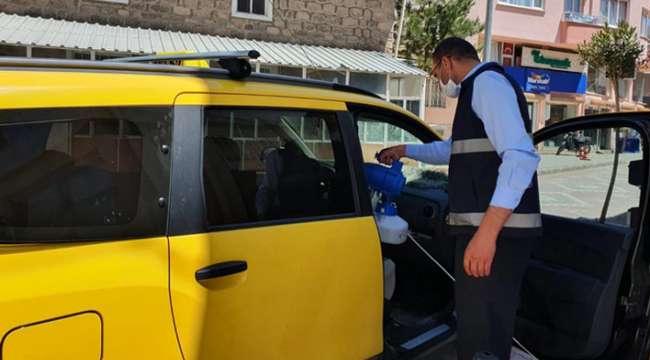 Afyonkarahisar'da Taksiler ve taksi duraklarında alınan önlemler