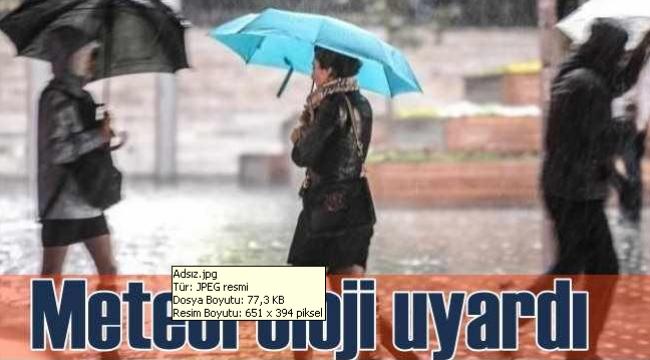 Afyonkarahisar'ın güneyinde yağışlı hava etkili olmaya başladı